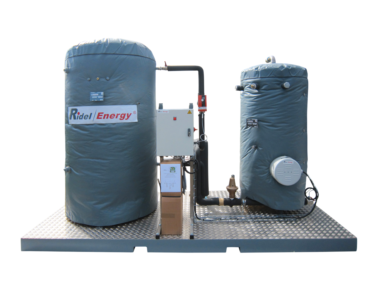 Complete solution for production of hot water PackRidel Ridel Energy