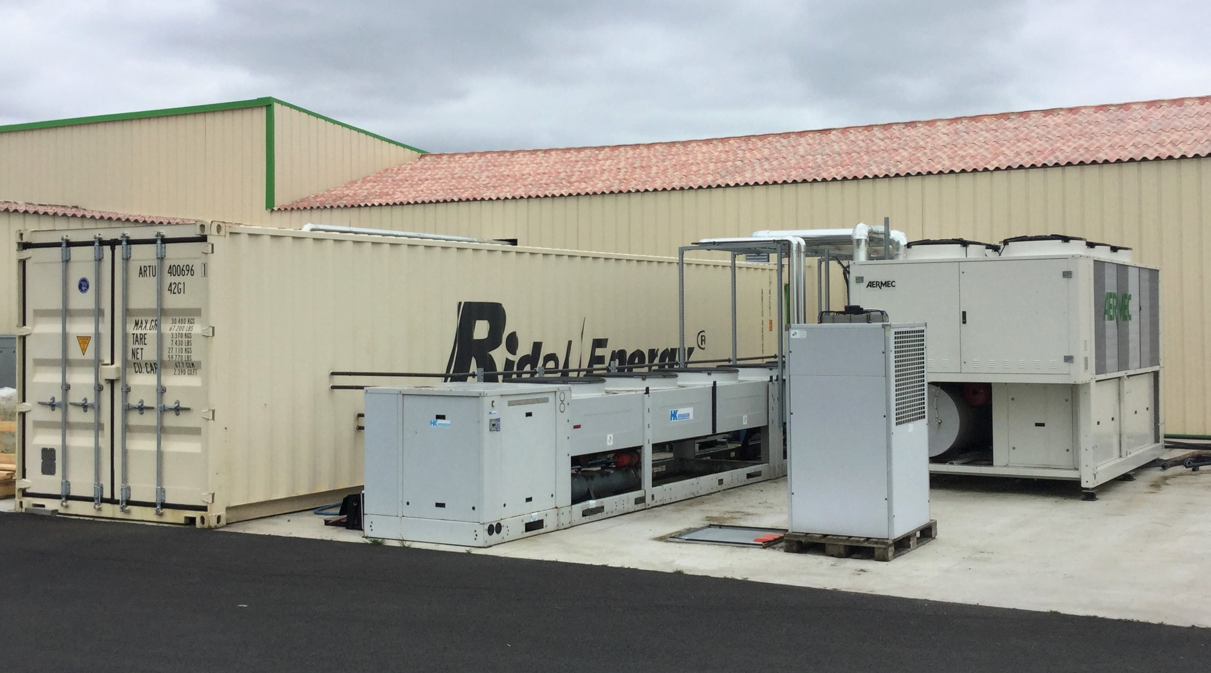 Heat Recovery on Refrigeration Installation RidelCub Ridel Energy Industrial refrigeration heat recovery Ridel/Cub