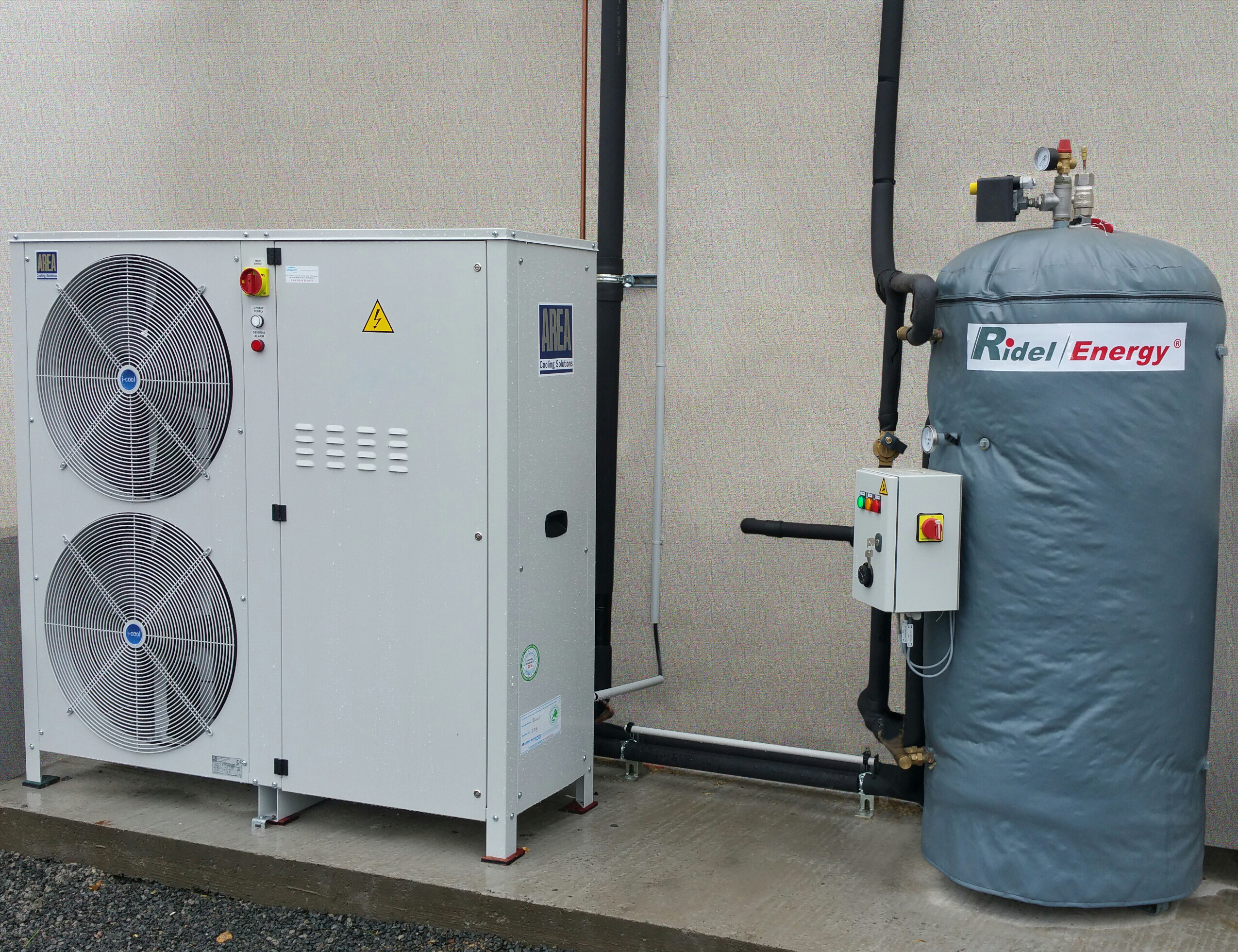Heat recovery unit for convenience stores Ridel Energy