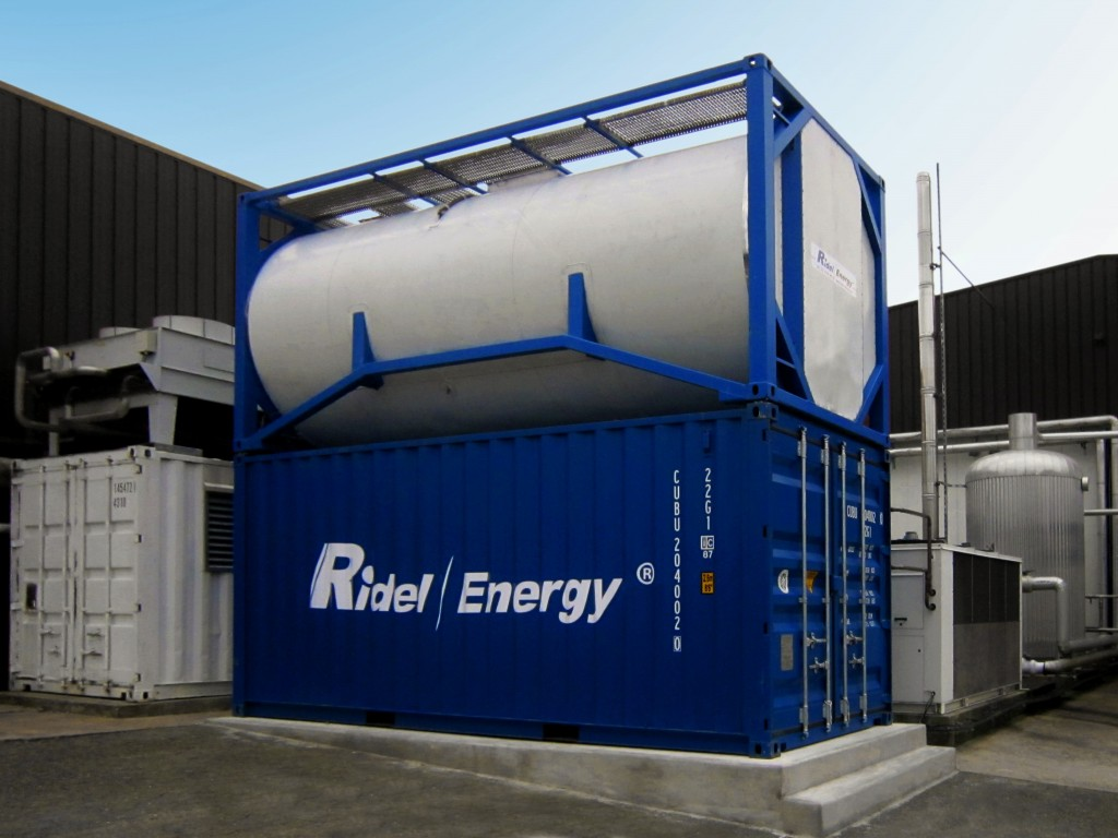 Heat recovery unit for industrial refrigeration RidelEnergy