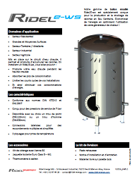 enameled electrical water heater Ridel/E-ws