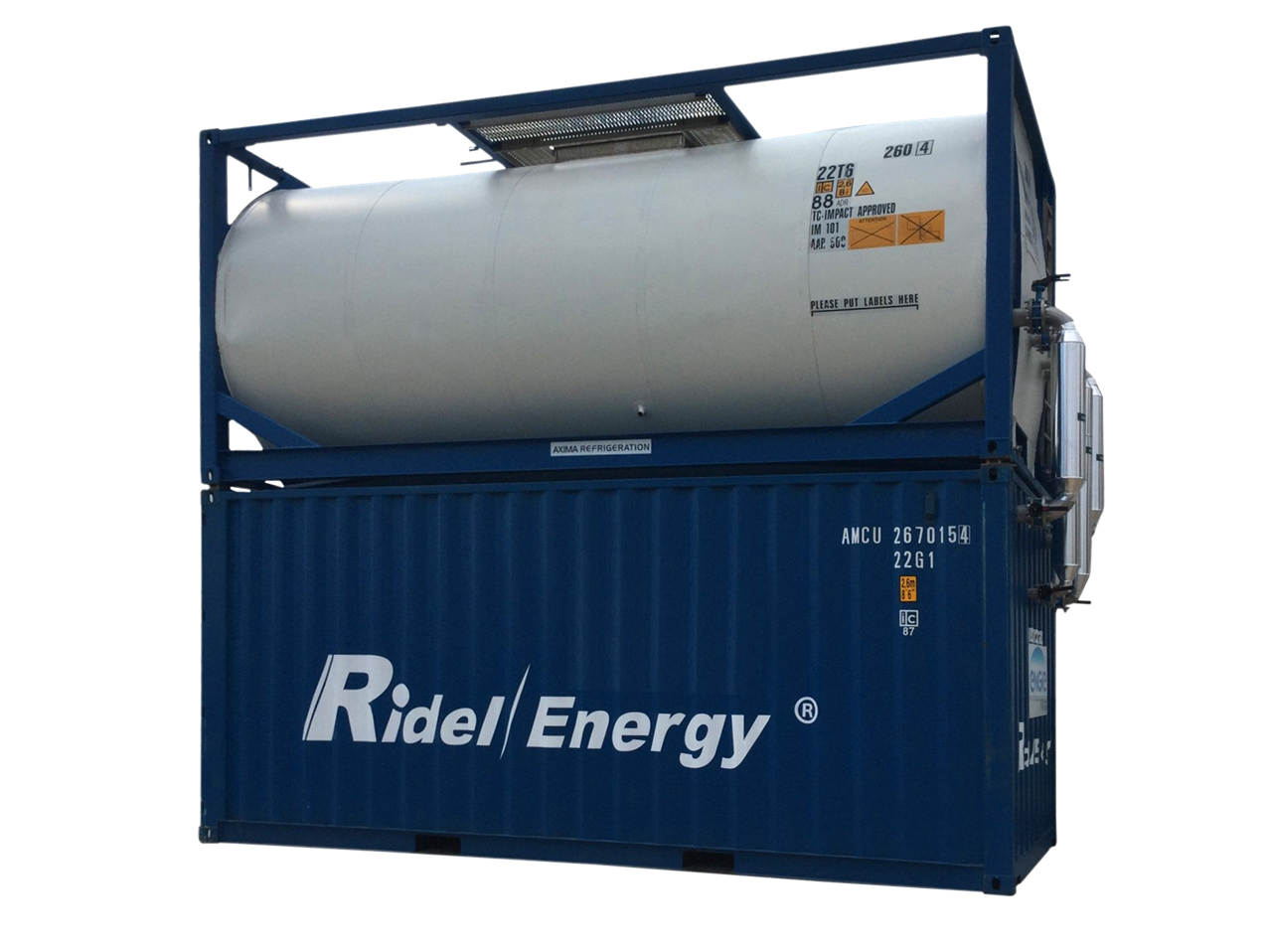 Heat recovery from refrigeration units Ridel/Cub Ridel-Energy