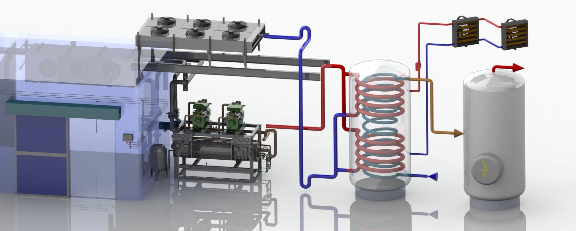 récupération de chaleur sur groupes frigorifiques