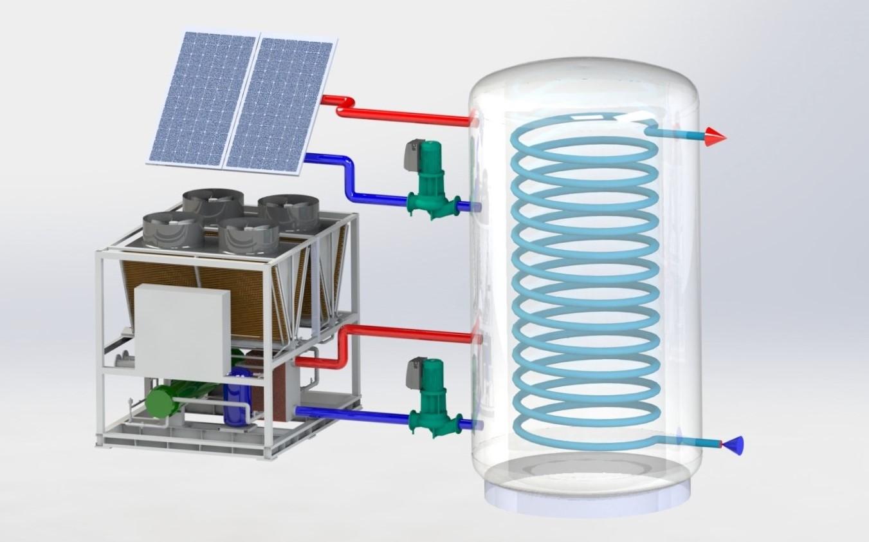 Récupération de chaleur sur installation frigorifique - Groupe d'eau glacée